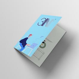 Folders - Dobra Grátis - 30x42cm  30x42cm 4x4 (frente e verso) sem verniz Corte reto cod: PF2019MP