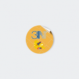 Adesivo Lacre De Segurança - Redondo Adesivo papel 120g 4,1x4,1cm 4x0 (só frente)  Redondo LSGR01ZP