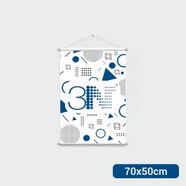----- Banner - 70x50cm ----- a partir de 2 unid. Lona 280g 70x50cm 4x0 Brilho Bastão e corda cod: BAT209AL
