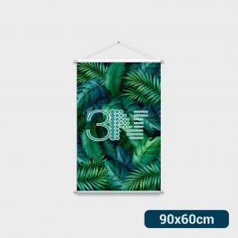 ----- Banner - 90x60cm ----- a partir de 2 unid. Lona 280g 90x60cm 4x0 Brilho Bastão e corda cod: BAT210AL