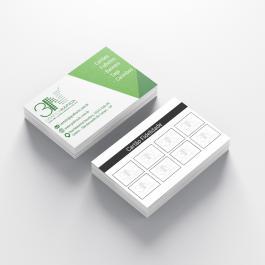 Cartão Fidelidade - Frente color Verso cinza Couchê 250g 8,8x4,8cm 4x1 (frente colorido e verso cinza) Verniz Total Brilho Frente Corte Reto cod: C1052MP