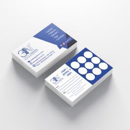 Cartão Fidelidade - Frente e Verso Couchê 250g 8,8x4,8cm 4x4 (frente e verso) Verniz Total Só Frente e Verso sem Verniz Corte Reto cod: C1053MP