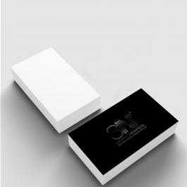 Cartão de visita - Fosca e Verniz Local Frente Couchê 300g 8,8x4,8cm 4x0 (só frente) Laminação Fosca e Verniz Localizado Só Frente Corte Reto cod: GVLF3ZP