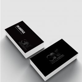 Cartão de visita - Fosca e Verniz Local Couchê 300g 8,8x4,8cm 4x4 (frente e verso) Laminação Fosca e Verniz Localizado Frente e Verso Corte Reto cod: CVL1000ZP