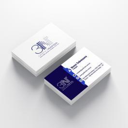 ----- Cartão de visita ----- a partir de 100 unid. Couchê 250g 9x5cm 4x4 (frente e verso)  Corte Reto cod: C1002N