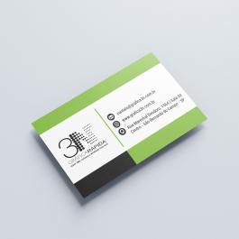 ----- Cartão de visita ----- a partir de 100 unid. Couchê 250g 9x5cm 4x0 (só frente)  Corte Reto cod: C1001N