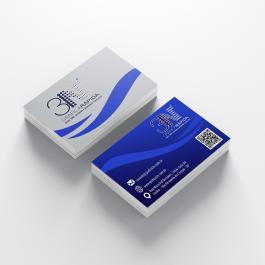 Cartão de visita - Frente e Verso Couchê 250g 8,8x4,8cm 4x4 (frente e verso)  Corte Reto cod: C1013MP