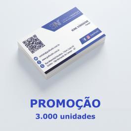 - Cartão de visita - PROMOÇÃO Couchê 250g 8,8x4,8cm 4x0 (só frente) Verniz Total Brilho Corte Reto cod: C0055MP