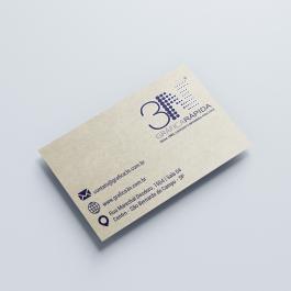 Cartão de visita reciclado - a partir de 100 unid. Reciclado 250g 9x5cm 4x0 (só frente)  Corte Reto cod: C1003N