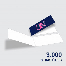 Cartão Duplo 4,8x17,6cm - Frente Couchê 250g 4,8x17,6cm 4x0 (só frente) Verniz Total Frente Corte Reto cod: CD2002MP