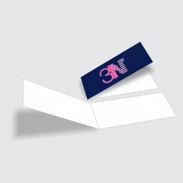 Cartão Duplo 4,8x17,6cm - Frente Couchê 250g 4,8x17,6cm 4x0 (só frente) Verniz Total Frente Corte Reto cod: CD2001MP