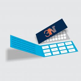 Cartão Duplo 4,8x17,6cm - FRENTE E VERSO Couchê 250g 4,8x17,6cm 4x4 (Frente e Verso) Verniz Total Frente Corte Reto cod: CD2005MP
