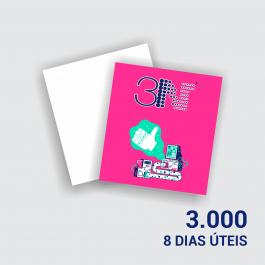 Cartão Duplo 8,8x9,7cm - Frente Couchê 250g 8,8x9,7cm 4x0 (só frente) Verniz Total Frente Corte Reto cod: CD2017MP