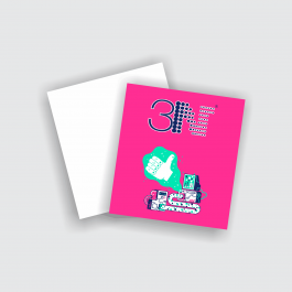 Cartão Duplo 8,7x9,8cm - Frente Couchê 250g 8,7x9,8cm 4x0 (só frente) Verniz Total Frente Corte Reto cod: CD2540ZP