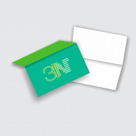 Cartão Duplo 8,8x9,7cm - Frente Couchê 250g 8,8x9,7cm 4x0 (só frente) Verniz Total Frente Corte Reto cod: CD2006MP