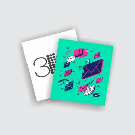 Cartão Duplo 8,8x9,7cm - FRENTE COLOR E VERSO PB Couchê 250g 8,8x9,7cm 4x1 (Frente colorido e Verso preto e branco) Verniz Total Frente Corte Reto cod: CD2018MP