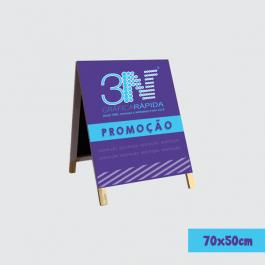 CAVALETE MADEIRA - 70x50cm Lona 2 Lados - 70x50cm + 5cm de pé    CV0246AL
