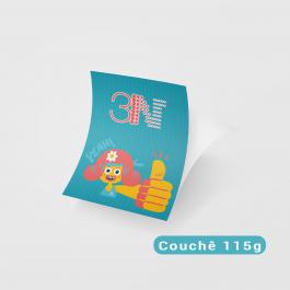 Panfletos - 10x15cm - Frente Couchê 115g 10x15cm 4x0 (só frente) Sem verniz Corte Reto cod: PF2001MP