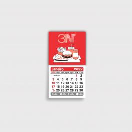 ------ Imã calendário ------ a partir de 500 unid. Manta magnética com calendário 5x4,5cm 4x0 (só frente)  Corte reto 5500CZP
