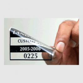 Adesivo vinil eletrostático Adesivo Eletrostático Transparente  4x0 (só frente) Brilho  AELT0037AL