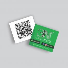 Mini cartão - Frente color e verso cinza  4,2x4,8cm 4x1 (Frente colorido e Verso cinza) Verniz Total Frente Corte Reto cod: 1724AZP