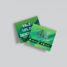 Mini cartão - Frente e verso  4,2x4,8cm 4x4 (Frente e Verso) Verniz Total Frente Corte Reto cod:  1724ACZP