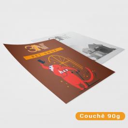 Panfletos - 14x20cm - Colorido frente e cinza verso Couchê 90g 14x20cm 4x1 (Colorido frente e cinza no verso) Sem verniz Corte Reto cod: PF2010MP