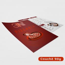 Panfletos - 14x20cm - Frente e Verso Couchê 90g 14x20cm 4x4 (frente e verso Sem verniz Corte Reto cod: PF2012MP