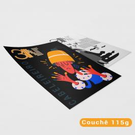 Panfletos - 15x20cm - Colorido frente e cinza verso Couchê 115g 15X20cm 4x1 (Colorido frente e cinza no verso) Sem verniz Corte Reto cod: PF2009MP