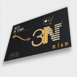 Placa de PS branca adesivada Placa de PS 200x100cm 4x0 (só frente)   PLPS0227AL