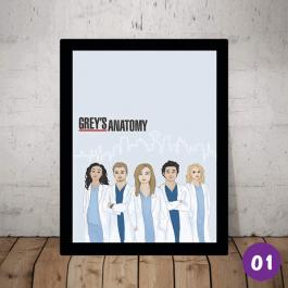 QUADROS Greys Anatomy Selecione a imagem que você mais gostar     QM0260N