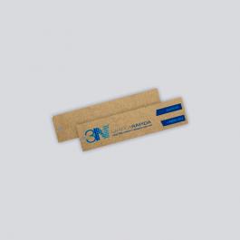 TAG KRAFT - Frente Kraft 300g 2,2x8,8cm 4x0 (só Frente) Sem verniz + furo TDK9250ZP