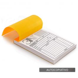 Talão - Autocopiativo - 10x15cm Sulfite 10x15cm 1x0 (só frente)  Corte Reto T4004